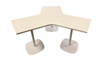 Tisch style STERN 60 weiß/weiß