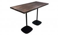 Stehtisch style 160x80 schwarz massivholz