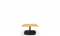Loungetisch style 60x60 schwarz Eiche