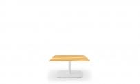 Loungetisch style 60x60 weiß Eiche